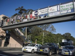 Protestors of the proposed WestConnex project