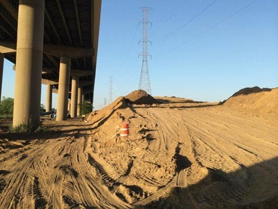 On June 2, 2014, the Delaware Department of Transportation closed a bridge on I–495 that was leaning and out of plumb. The culprit? This seemingly innocuous stockpile of dirt on the east side of the bridge.