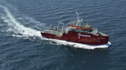 Fugro geophysical vessel used for UXO detection