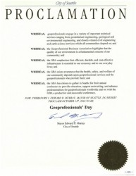 Seattle Mayor names October 14 as Geoprofessional's Day
