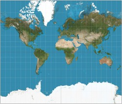 Mercator map projection