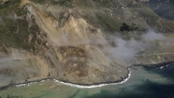 The Big Sur landslide or Mud Creek landslide on the PCH, the worst Caltrans has ever seen.