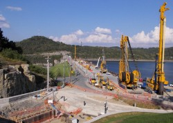Center Hill Dam Seepage Rehabilitation Project Work Platform