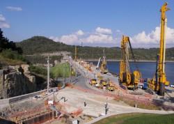 Center Hill Dam Seepage Rehabilitation Project Work Platform