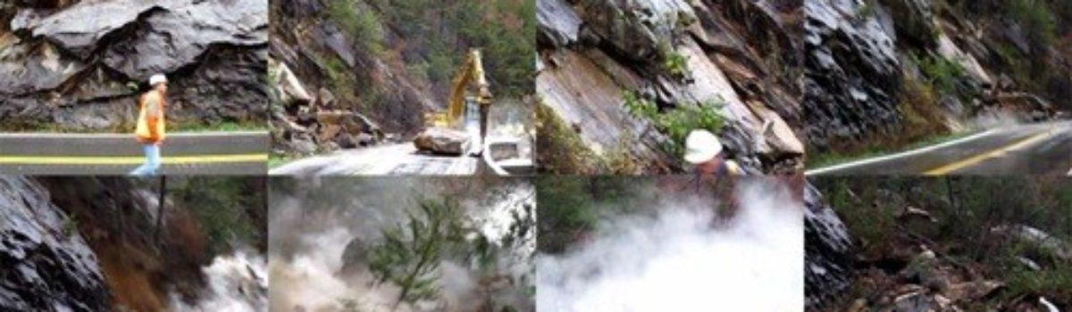 Video: Rockslide on U.S. Highway 64 in Tennessee