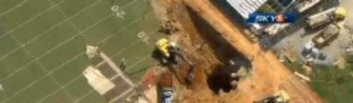 40 Foot Sinkhole in Tenn. Stadium Endzone
