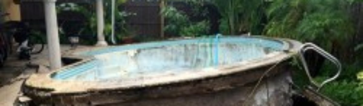 Florida Pool Pushed Out Of Ground After Heavy Rains
