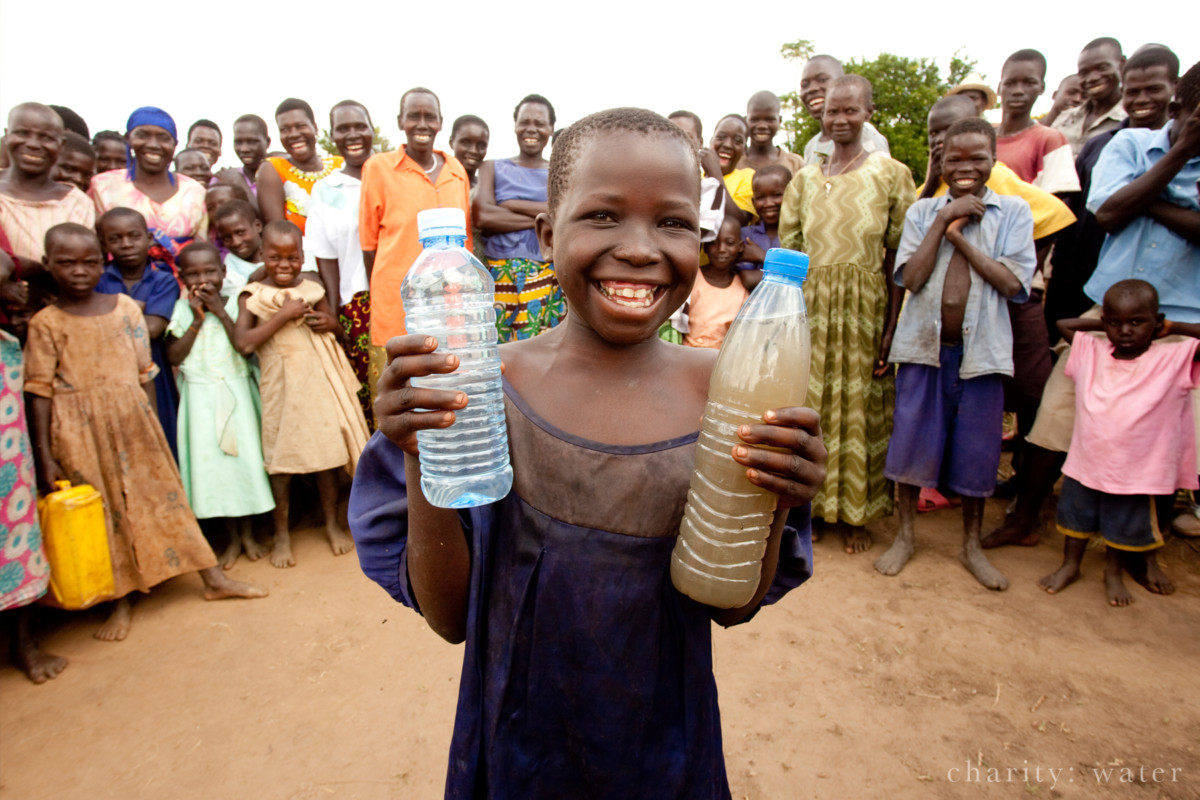 The joy of clean water in Uganda