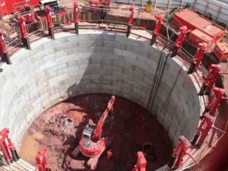 Abbey Park Project - 20 m diameter shaft (Alan Auld Group)