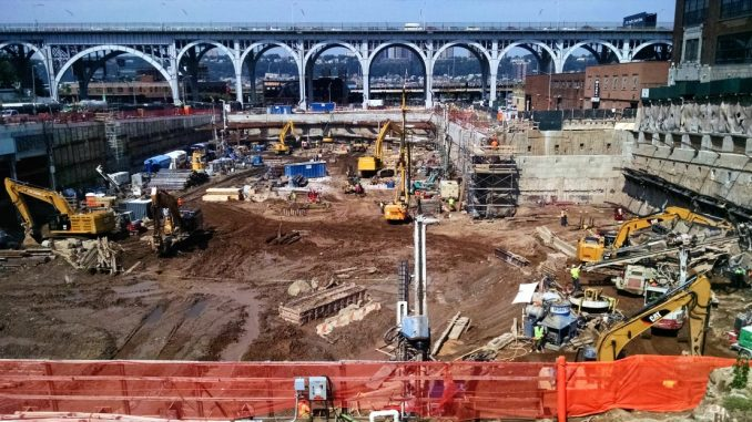 Hayward Baker and Moretrench joint venture project at Columbia University's Manhattanville campus.