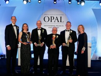 Bill Brumund, third from left, recipient of the 2018 ASCE OPAL Award for Management