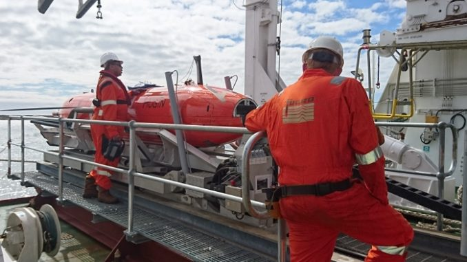 Fugro deploys Echo Surveyor VII AUV and specialised seafloor sampling equipment in support of NORI's deep sea polymetallic nodule mining, source: Fugro