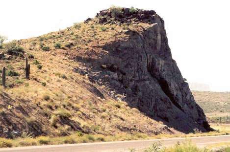 Figure 9 Slope angles were varied from 0.5:1 to 1.5:1 to highlight the prominent knolls on SR 87 in Arizona.