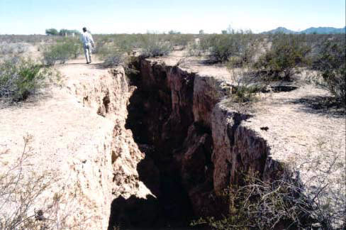 Figure 4: Mature Earth Fissure