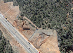 SR 87 Landslide Between Payson and Phoenix, March 2008