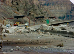 Rockfall on I-70