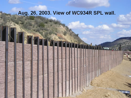 Soldier Pile Lagging Wall on US 70 near Ruidoso, NM. Photo courtesy of Mike Pegnam, Golder Associates, Inc.