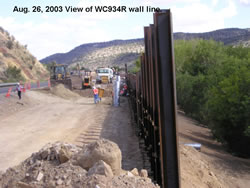 Completed side-hill retaining wall for the SR 264 Second Mesa project in Arizona. Photo by Bharat Khandel, ADOT by way of NCS Consultants, LLC