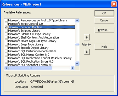 Microsoft Scripting Runtime