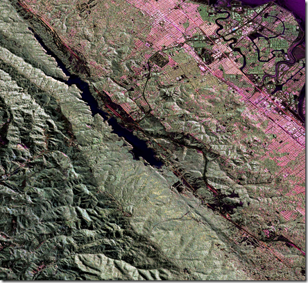 NASA INSAR image of San Andreas Fault