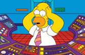 Homer Simpson at the Controls of the Springfield Nuclear Power Plant