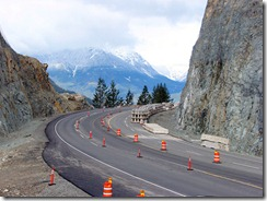 Smoother curves, new rock cuts and rock ditches on the Sea-to-Sky Highway