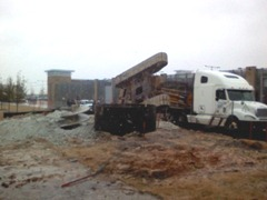 Excavator mounted drilled shaft rig topples over in Austin, Texas