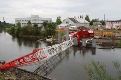 The Fairbanks Department of Transportation & Public Facilities is closing the Chena River from the Cushman Street Bridge to the Peger Road Bridge after a crane working on construction of the Barnette Street Bridge fell across the river in downtown Fairban