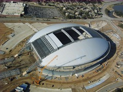 Dallas Cowboy's Stadium in Arlington, near the end of construction