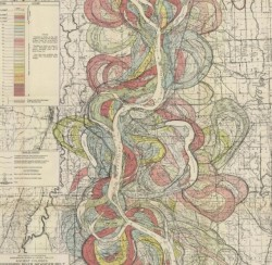 Geologic map of a portion of the lower Mississippi River