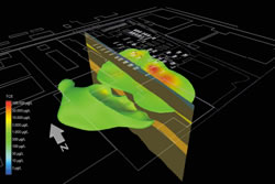 3d Visualization of contaminant information in shallow aquifers