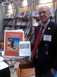 George Davis presents the new edition of his Structural Geology textbook at the 2011 GSA conference
