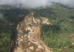 January 2012 Landslide in Papua New Guinea at site of a quarry used for an Exxon project