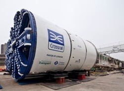 One of the eight Crossrail Tunnel Boring Machines or TBMs