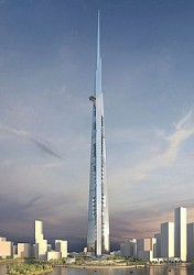 The 1-km tall Kingdom Tower, designed by architect AS+GG, will be 173m taller than the Burj Khalifa when it is completed in 2018