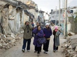 The Italian village of Onna after an April 7, 2009 earthquake
