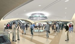 Rendering of the new passenger concourse beneath GCT