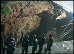 Sinkhole that swallowed a man in Shenzhen city, China