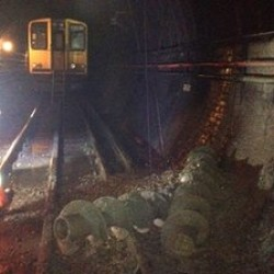 Augers broke through a London Subway Tunnel
