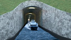This computer generated picture shows the so-called Stad Ship Tunnel. Picture: AFP /Stadskipstunnel.no/NORDWEST3D