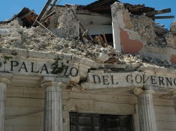 Damage from 2009 L'Aquila Earthquake in Italy