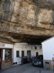 Buildings are one with the rock in the Spanish town of Setenil De Las Bodegas