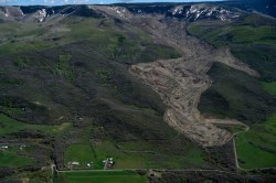 Aerial view of the Mesa County Colorado Mudslide