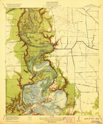 Example historical USGS topo map of Highlands, TX from 1912