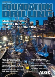 ADSC Foundation Drilling Magazine - January Cover