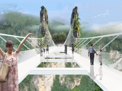 Proposed glass bridge in China's Zhangjiajie National Forest