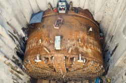 The Bertha TBM after most of the repairs were completed