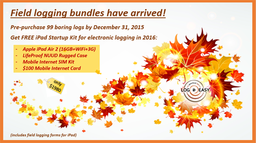 LogitEasy Fall/Winter Promotion - Free iPad for Borehole Logging