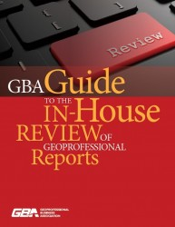 GBA Guide to the In-House Review of Geoprofessional Reports