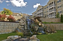 Redi-Rock retaining walls look fantastic in residential development applications
